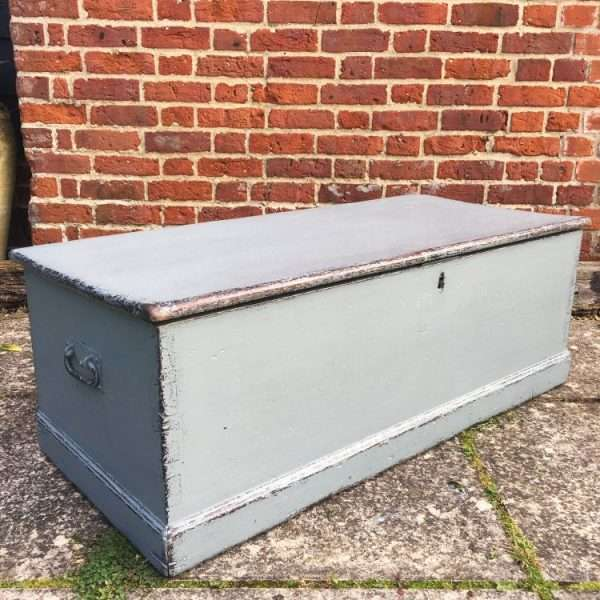 Mid Victorian Painted Pine Blanket Box