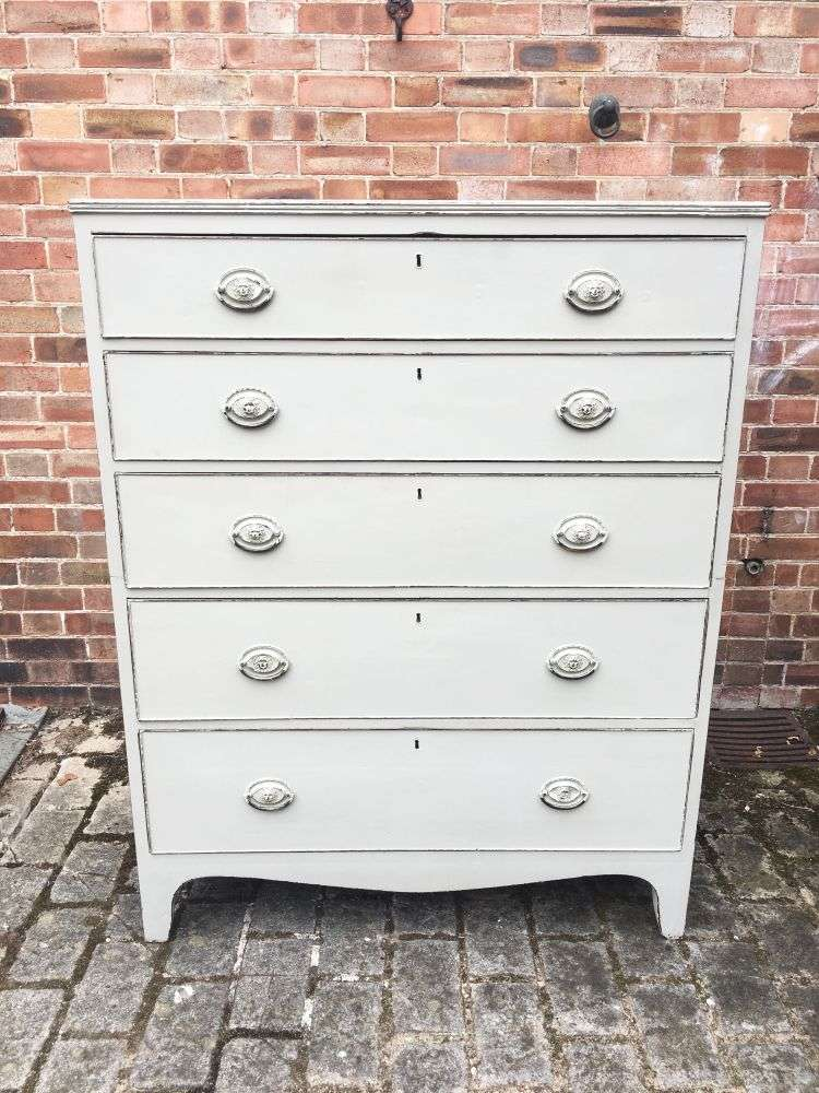 Regency Painted Mahogany 5 Drawer Chest3