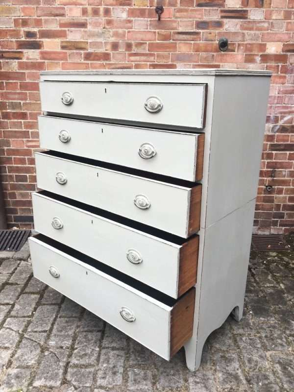 Regency Painted Mahogany 5 Drawer Chest