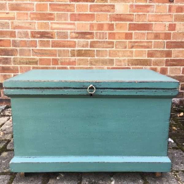 Late Victorian Painted Pine Storage Box3