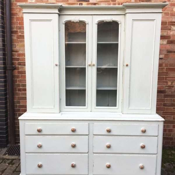 Mid Victorian Painted Pine Dresser4