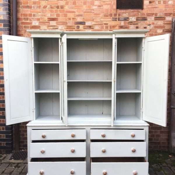 Mid Victorian Painted Pine Dresser5