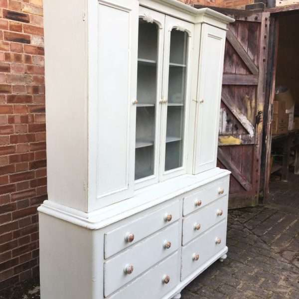 Mid Victorian Painted Pine Dresser2