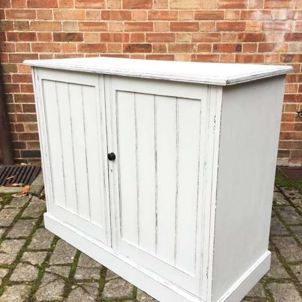 Edwardian Painted Walnut Cupboard1
