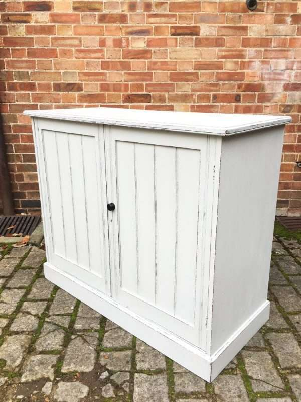 Edwardian Painted Walnut Cupboard1