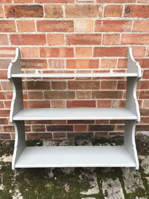 Edwardian Painted Mahogany Hanging Shelves3