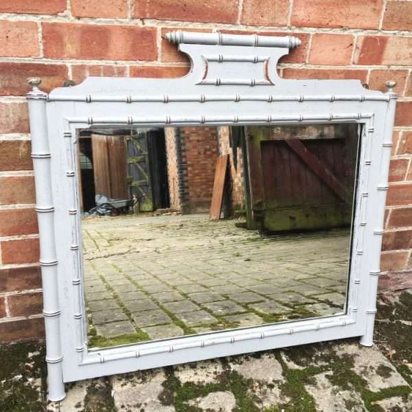 Late 19th Century Faux Bamboo Wall Mirror5
