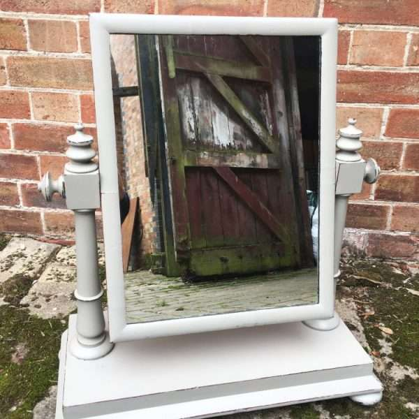 Early Victorian Painted Mahogany Swing Mirror3