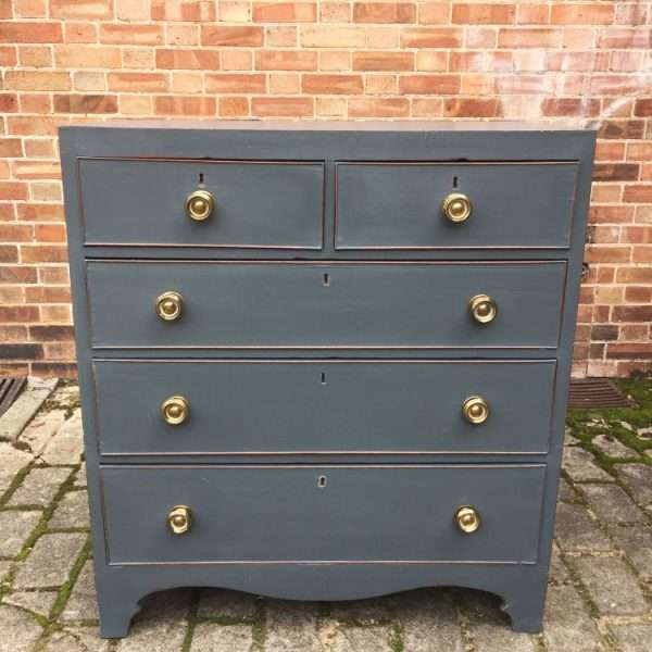 Regency Painted Mahogany Chest Of Drawers4