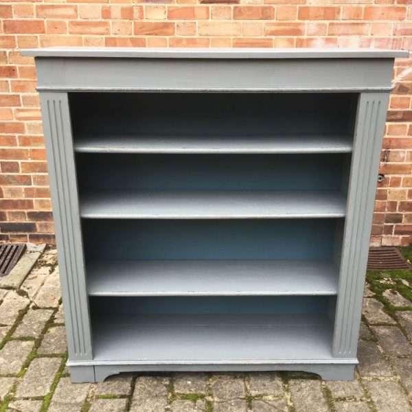Edwardian Painted Oak Book Shelves2