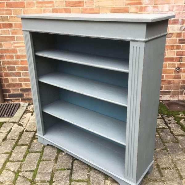 Edwardian Painted Oak Book Shelves1