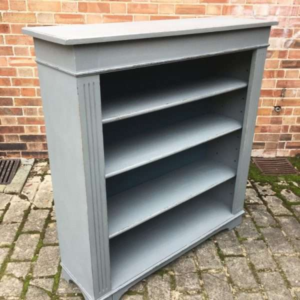 Edwardian Painted Oak Book Shelves