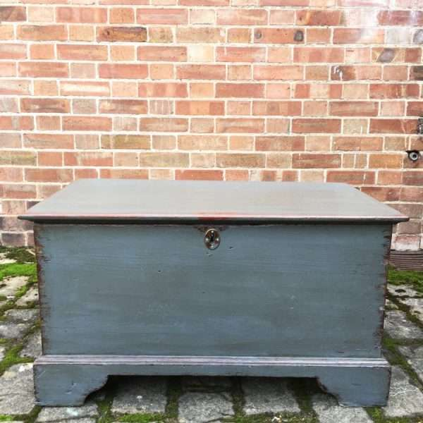 Early Victorian Painted Elm Box