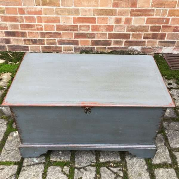 Early Victorian Painted Elm Box1