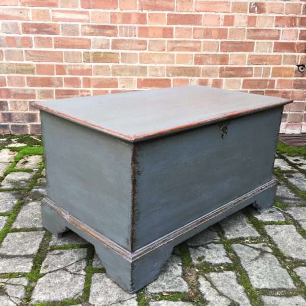 Early Victorian Painted Elm Box2