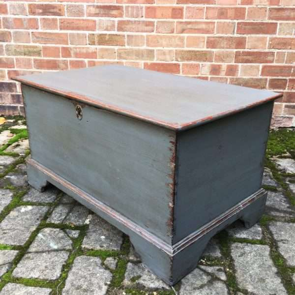 Early Victorian Painted Elm Box3