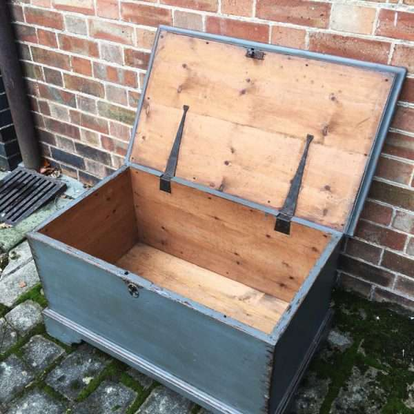 Early Victorian Painted Elm Box4