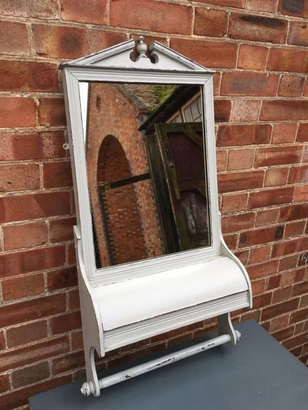 Edwardian Painted Mahogany Shaving Mirror