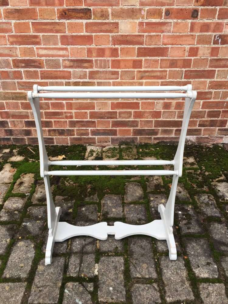 Early Victorian Painted Pine Towel Rail3