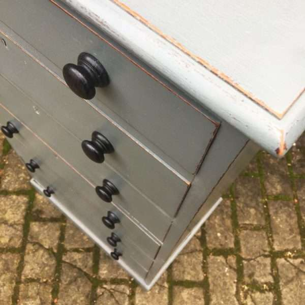 Edwardian Painted mahogany Office Drawers (1)