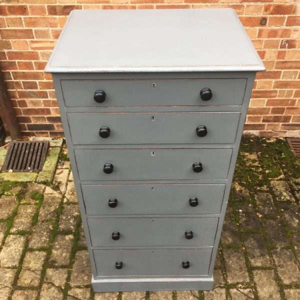 Edwardian Painted mahogany Office Drawers (4)