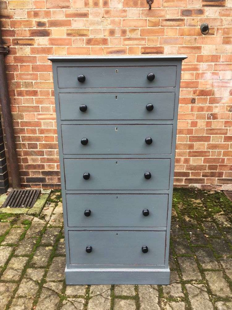 Edwardian Painted mahogany Office Drawers (5)
