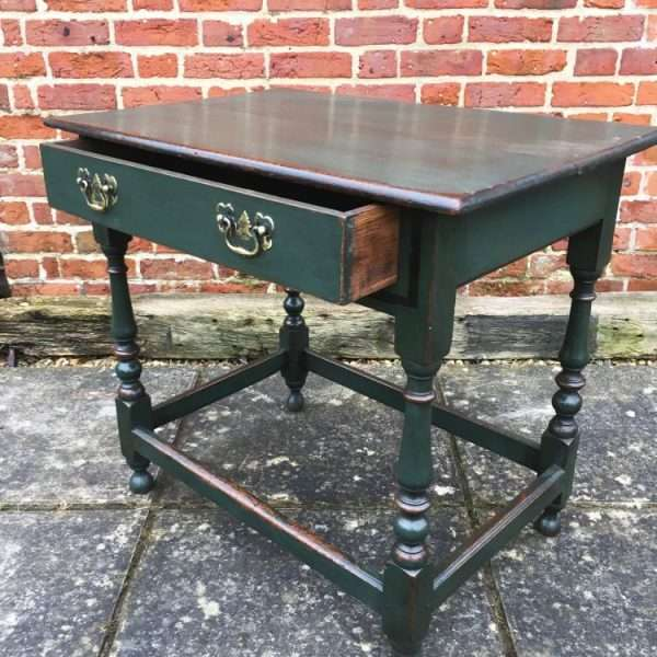 Late Victorian Painted Oak Table3