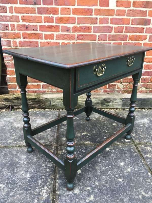 Late Victorian Painted Oak Table4