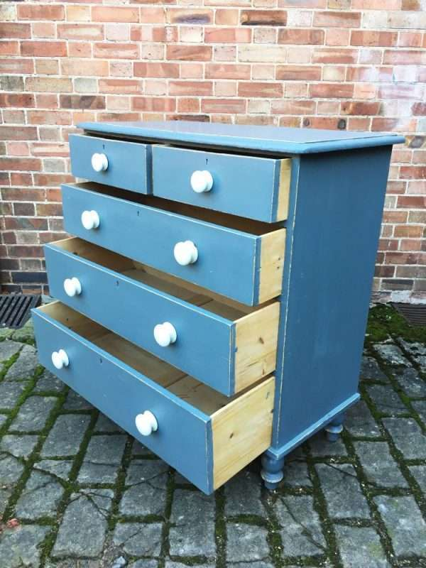 Victorian Painted Pine Chest Of Drawers2