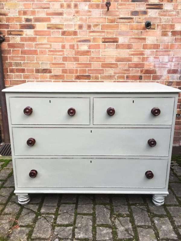 William IV Painted Mahogany Chest Of Drawers