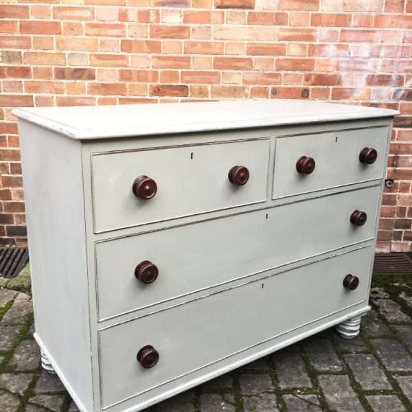William IV Painted Mahogany Chest Of Drawers2