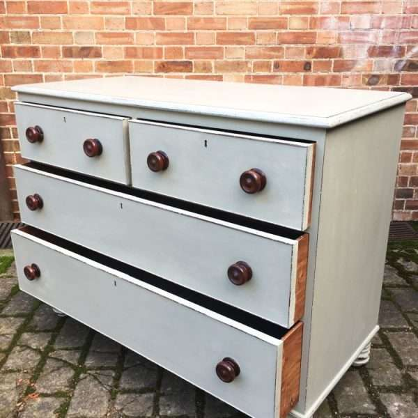 William IV Painted Mahogany Chest Of Drawers3