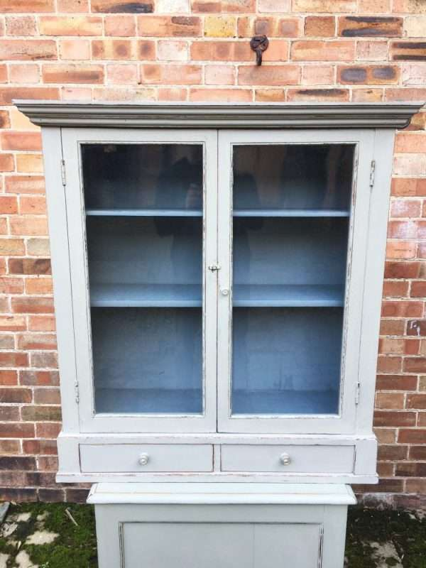 Edwardian Painted Oak Hanging Cabinet