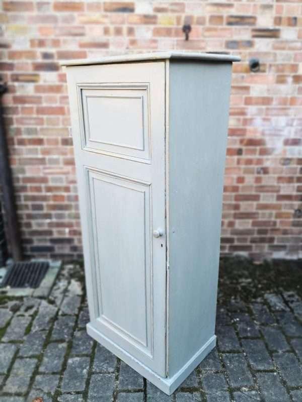Mid Victorian Painted Pine Linen Cupboard2