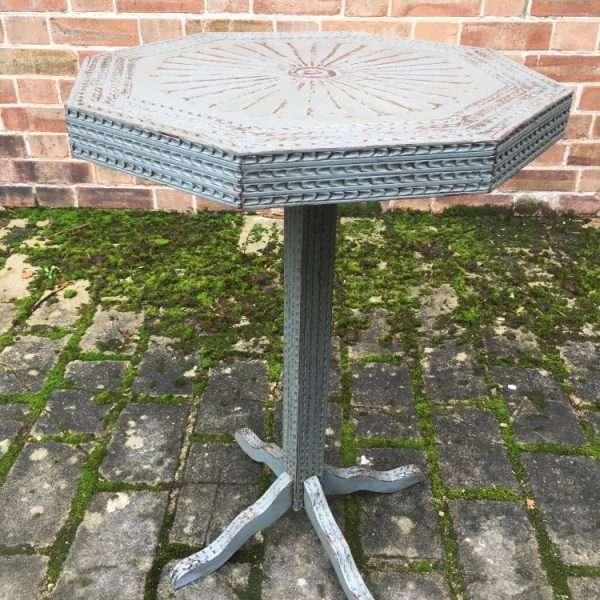 Late 19th Century Painted Carved Oak Table1