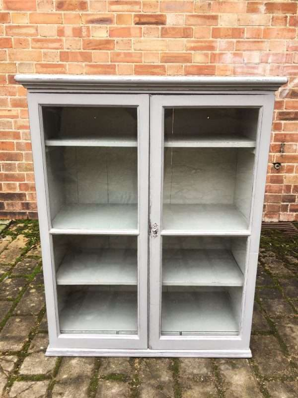 Mid Victorian Painted Mahogany Hanging Cupboard3