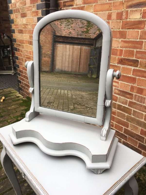 Mid Victorian Painted Mahogany Swing Mirror