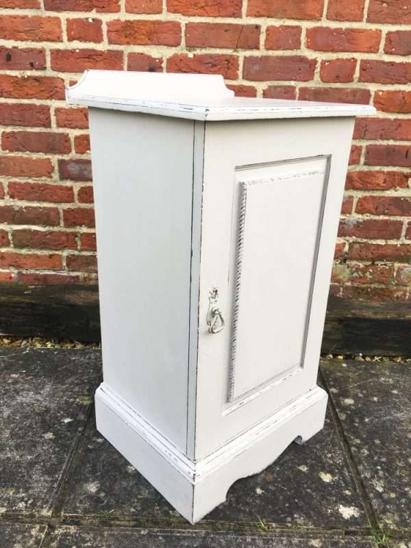 Edwardian Painted Mahogany Bedside Cupboard2