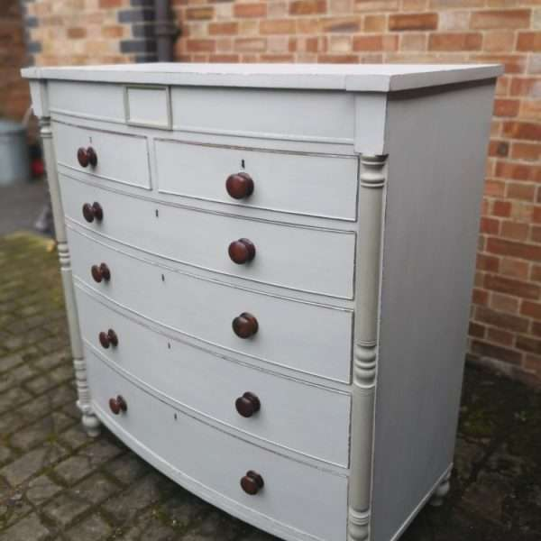 William IV Painted Mahogany Gentleman's Chest1