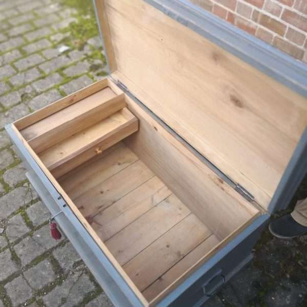 Victorian Painted Pine Blanket Box