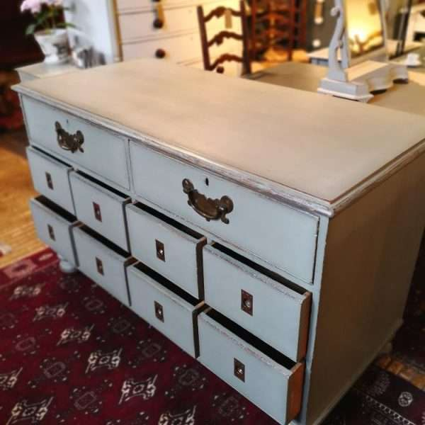 Mid Victorian Painted Oak Shop Counter4