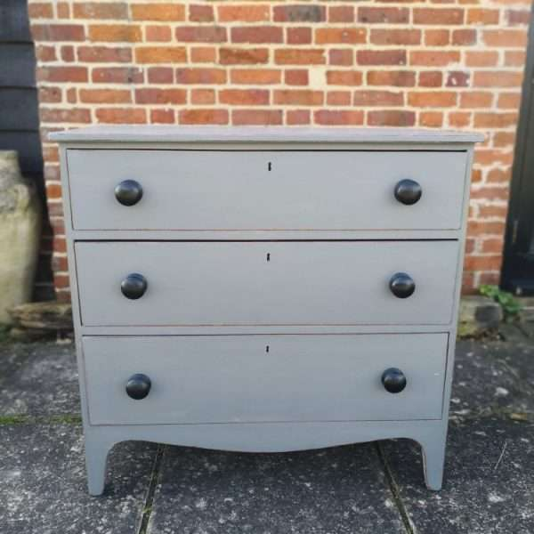 Early 19th Century Painted Mahogany Chest Of Drawers1