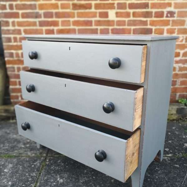 Early 19th Century Painted Mahogany Chest Of Drawers4