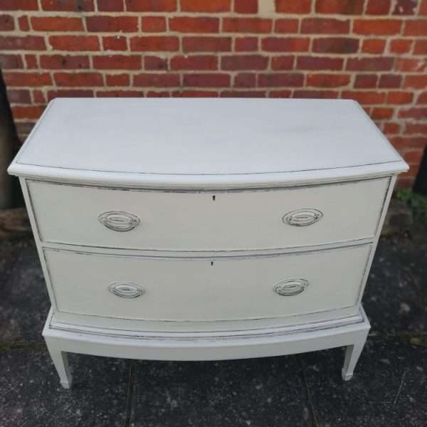 Edwardian Painted Mahogany Chest On Stand1