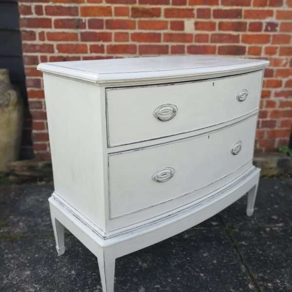 Edwardian Painted Mahogany Chest On Stand3