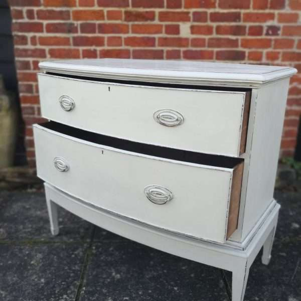Edwardian Painted Mahogany Chest On Stand4