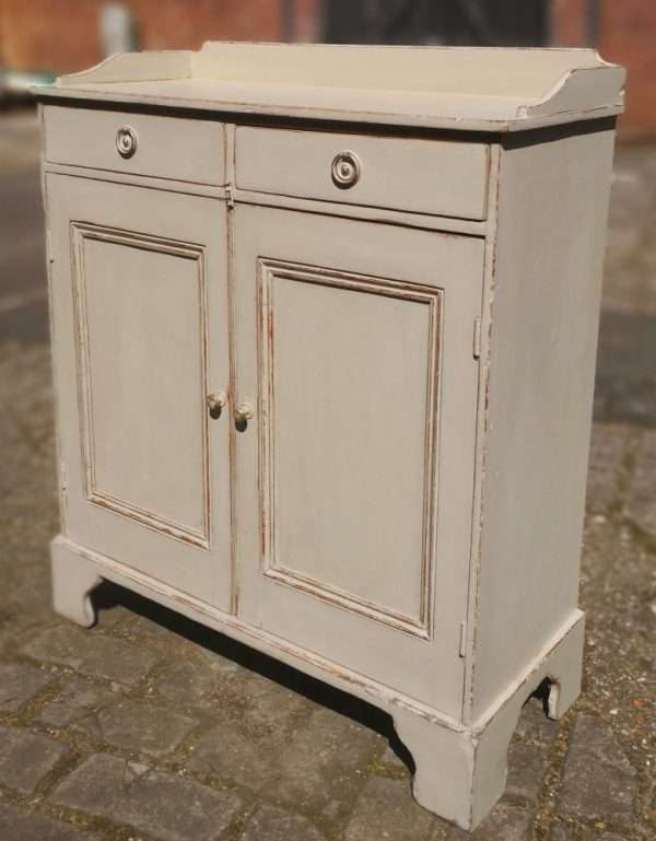 Mid 19th Century Painted Pine Cottage Dresser1