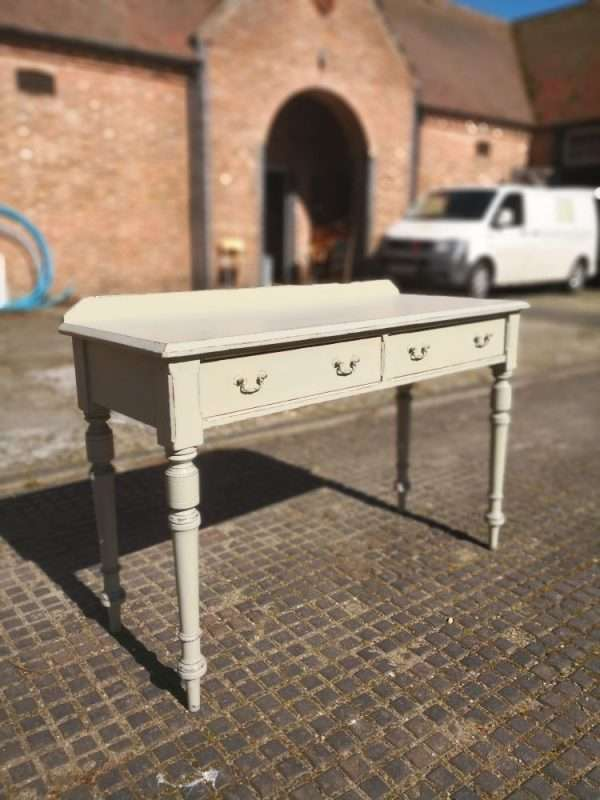 Mid Victorian Painted Pitch Pine Dressing Table1