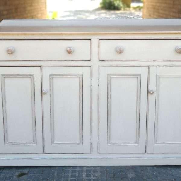 Victorian Painted Pine Kitchen Dresser Base