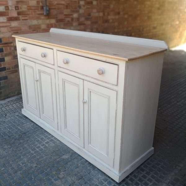 Victorian Painted Pine Kitchen Dresser Base2